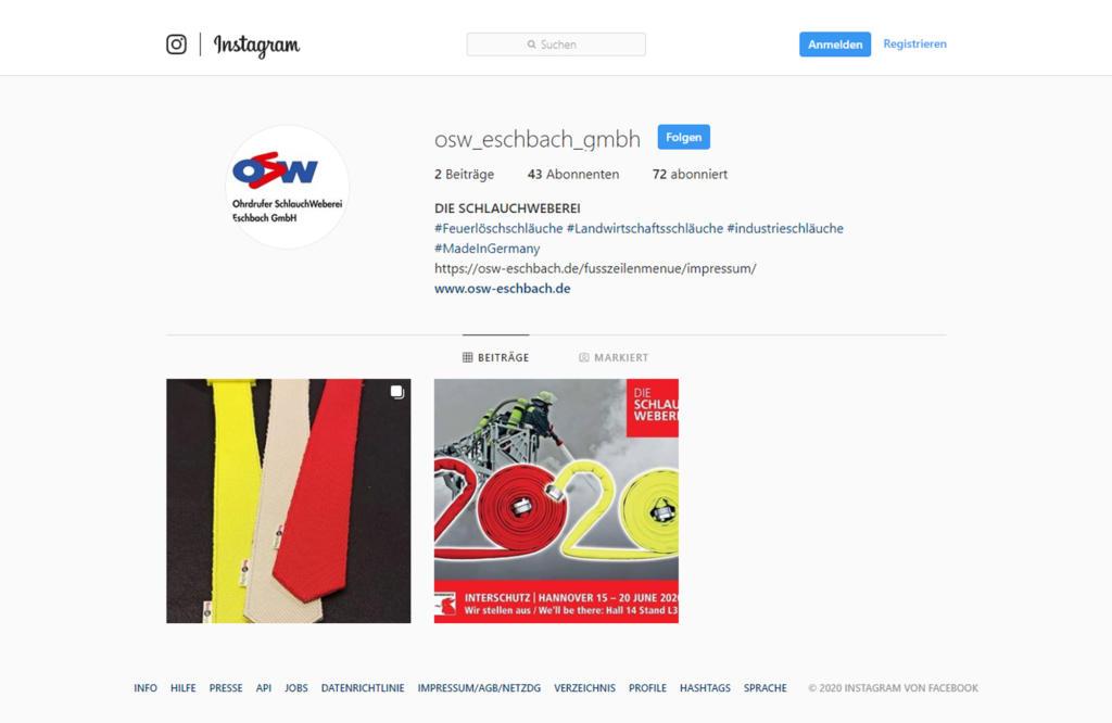 Die Schlauchweberei nun auch bei Instagram