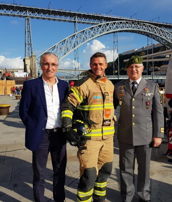 Posanz beim letzten Firefighter Wettkampf der Saison in Porto