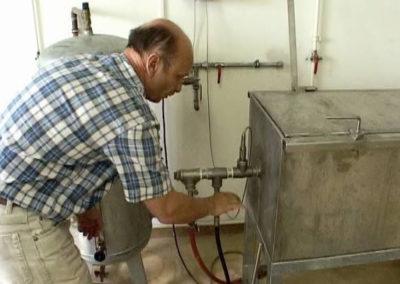 Platzdruckprüfung Feuerlöschschlauch mit Innengummierung