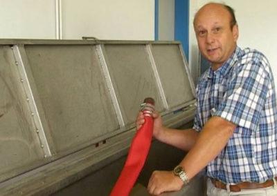 Platzdruckprüfung innen- und außengummierter Schlauch
