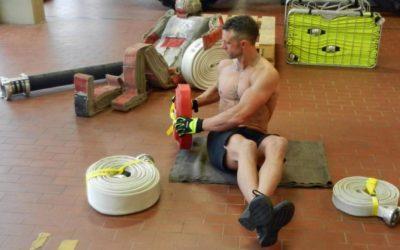 Toughest Videopost vom Workout mit Firefighter Posanz